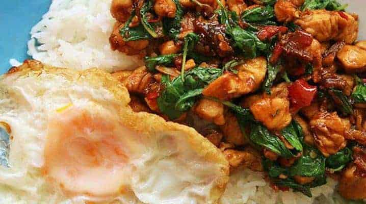 Thai Holy Basil Chicken Stirfry