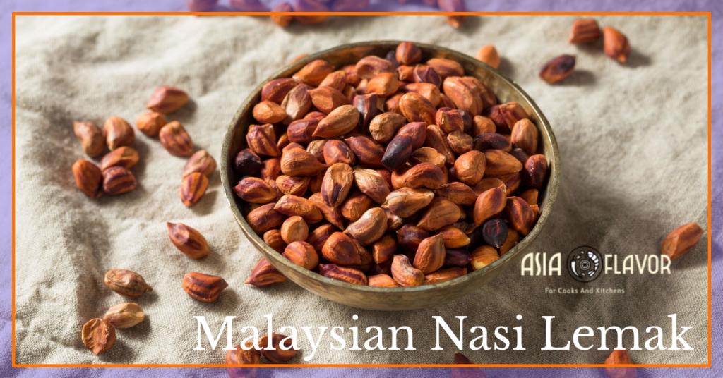 peanuts malaysian nasi lemak