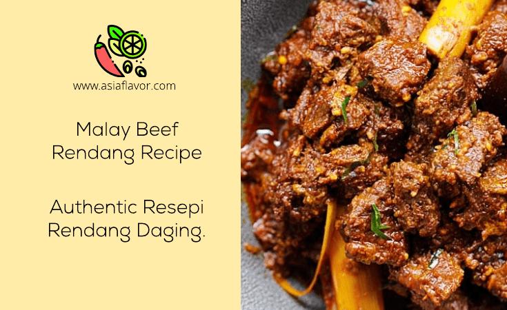 Malay Beef Rendang Recipe (Authentic Resepi Rendang Daging)