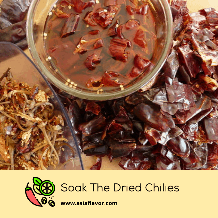 soak the dried chillies